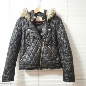 Juicy Couture Moto Puffer Jacket